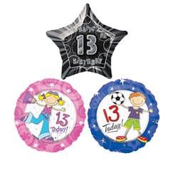 13th Birthday Balloons