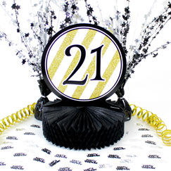 21st Birthday Table Decorations