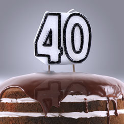 40th Birthday Candles