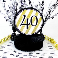 40th Birthday Table Decorations