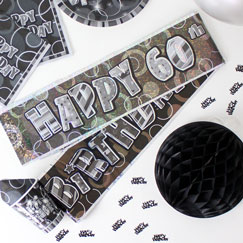 60th Birthday Party Banners