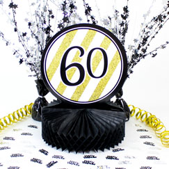 60th Birthday Table Decorations