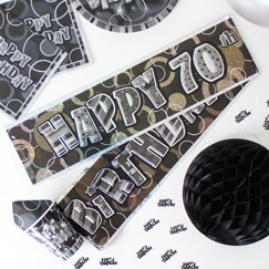 70th Birthday Party Banners