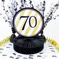 70th Birthday Table Decorations