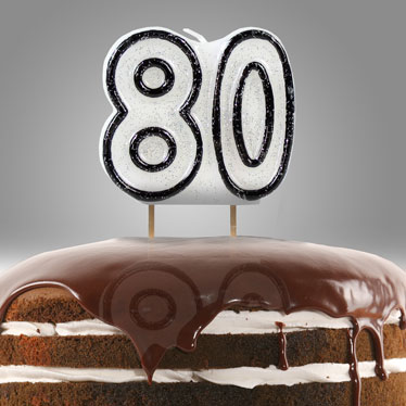 80th Birthday Party Candles