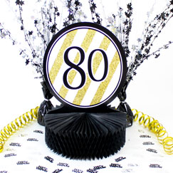 80th Birthday Table Decorations
