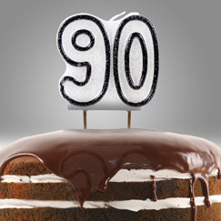 90th Birthday Party Candles