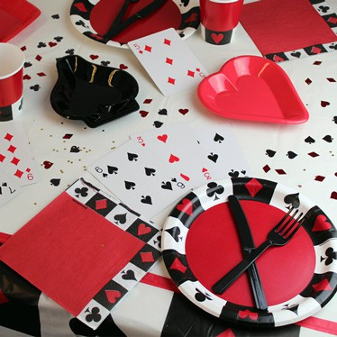 Casino Party Tableware
