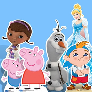 Kids & Cartoon Life Size Cardboard Cutouts
