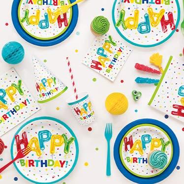 Happy Balloon Birthday Party Supplies
