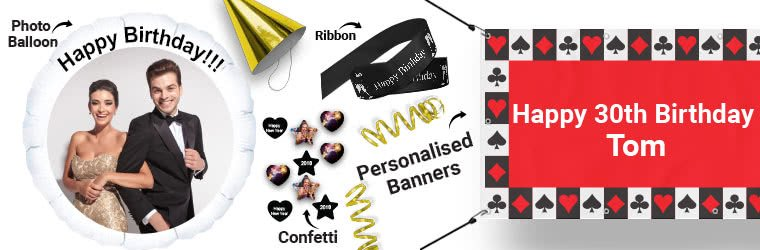 Personalised Party Supplies