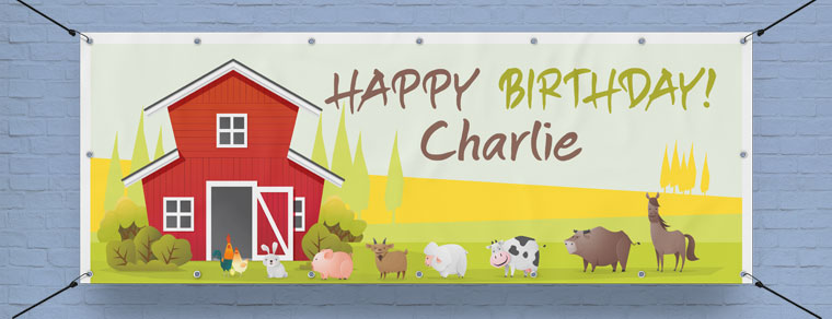 Animal Personalised Banners