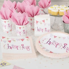 Christening Pink Party Supplies
