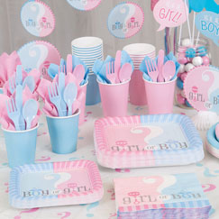 Gender Reveal Party Tableware