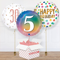 Birthday Message Balloon In A Box