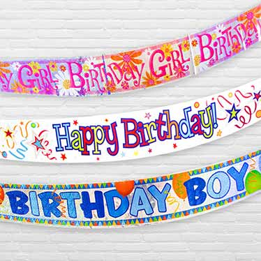 Birthday Message Banners
