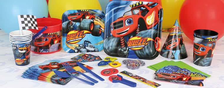 Blaze Theme Party Supplies Top Image