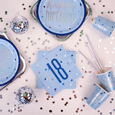 Blue Glitz 18th Birthday