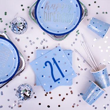 Blue Glitz 21st Birthday