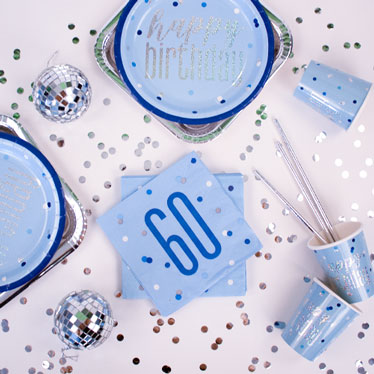 Blue Glitz 60th Birthday