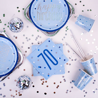 Blue Glitz 70th Birthday