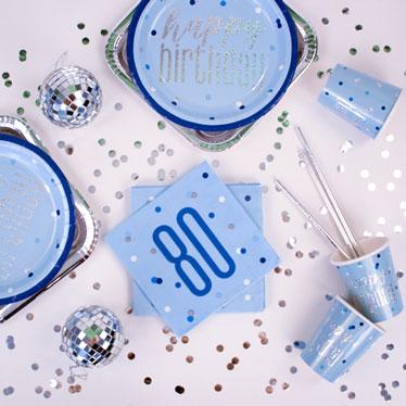 Blue Glitz 80th Birthday