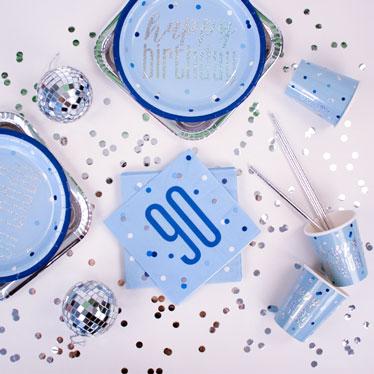 Blue Glitz 90th Birthday