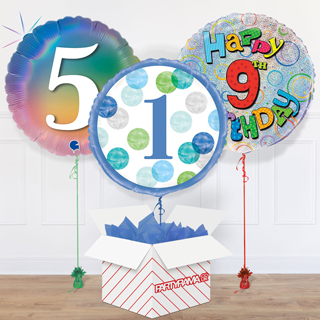Children's Birthday Ages Balloon In A Box