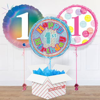 First Birthday Balloon In A Box