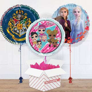 Kids Themed Balloon In A Box