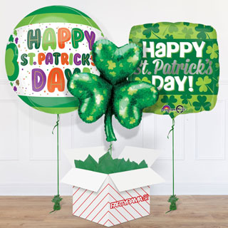 St Patrick's Day Balloon In A Box