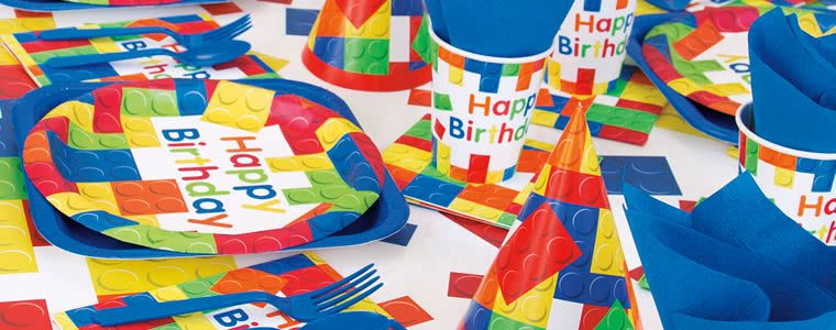 Building Blocks Party Supplies Top Image