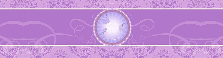 Christening Pink Party Supplies Top Image
