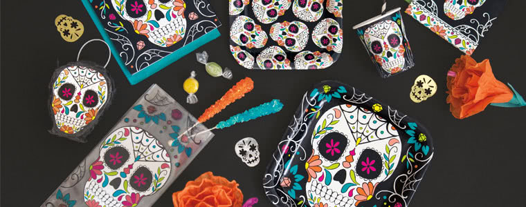 Day Of The Dead Party Supplies Top Image