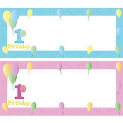 First Birthday Personalised Banners