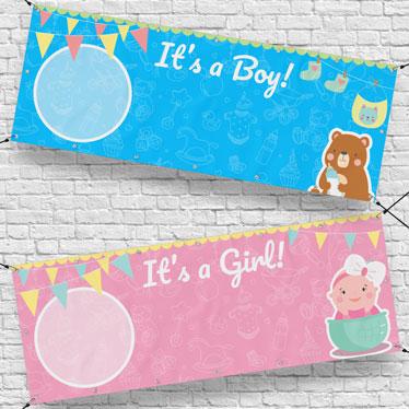 Personalised Gender Reveal Banners