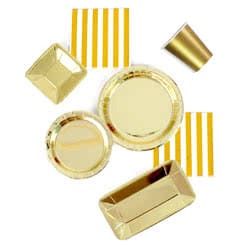 Gold Foil Tableware