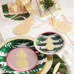 Golden Pineapple Party Supplies
