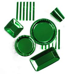 Green Foil Tableware