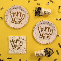 Happy New Year Gold Party Supplies