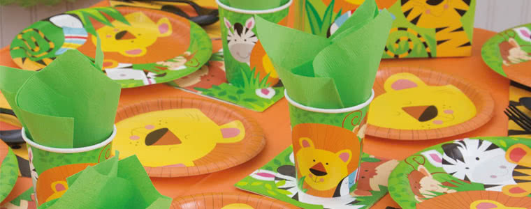 Jungle Animals Party Supplies Top Image