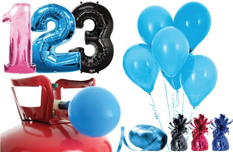 Kids Ages Helium Packages with Balloons