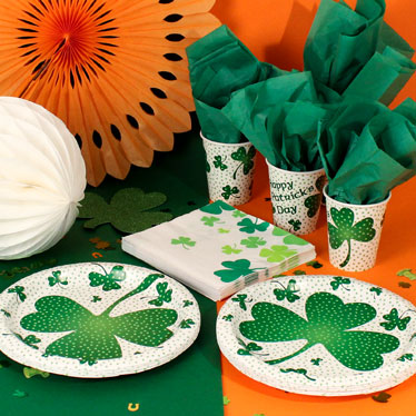 St Patrick's Day Party Tableware