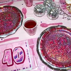 Pink Glitz 40th Birthday