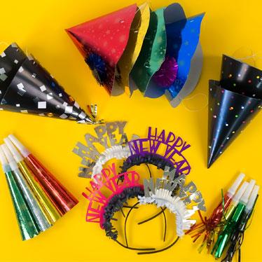 New Years Eve Party Kits & Novelties