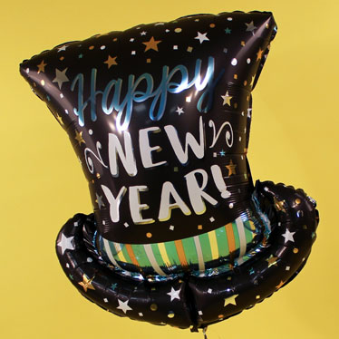 New Years Themed Balloons