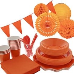 Orange Party Supplies