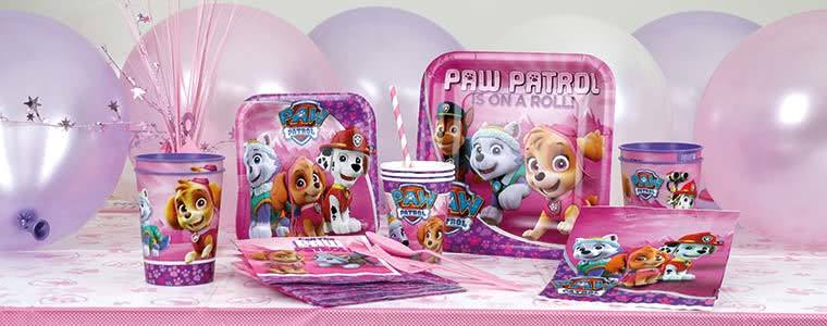 Paw Patrol Pink Party Supplies Top Image