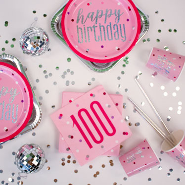 Pink Glitz 100th Birthday