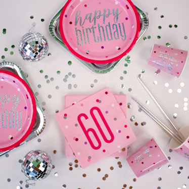 Pink Glitz 60th Birthday